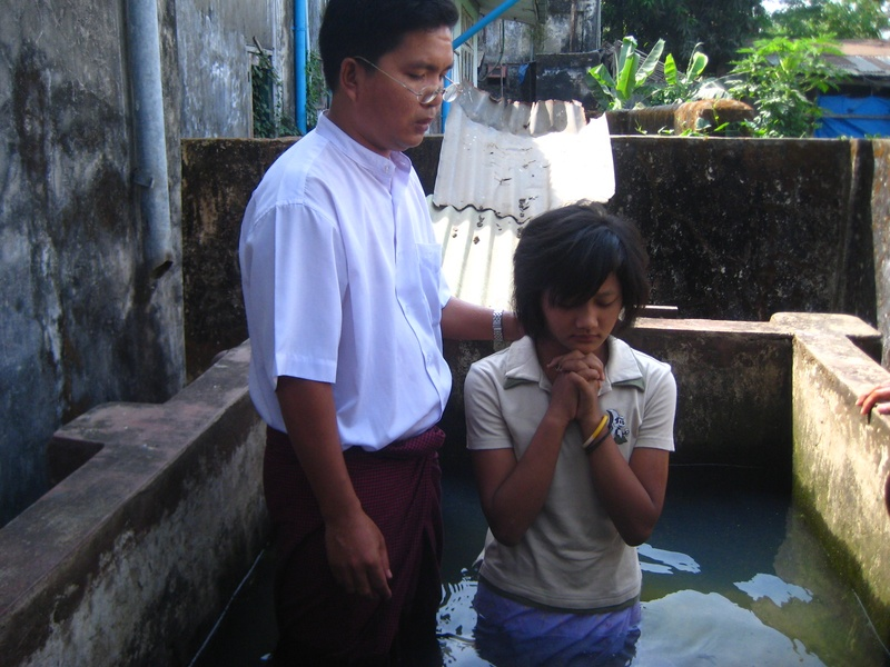 Ram baptized new believer